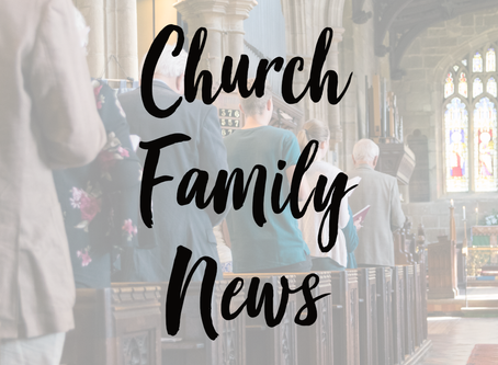 Church Family News 4th October