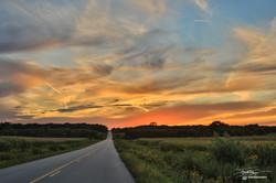 Summer Road Sunset