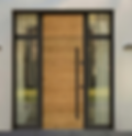 Modern timber entrance door