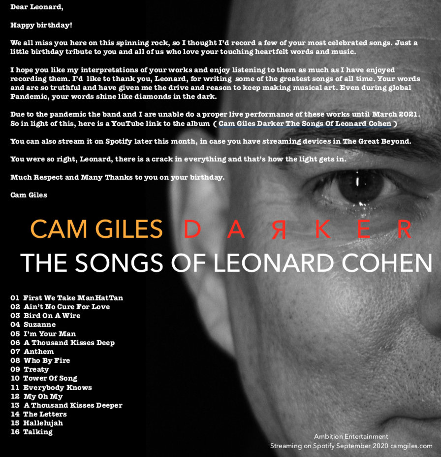 Cam Giles DARKER The Songs Of Leonard Co