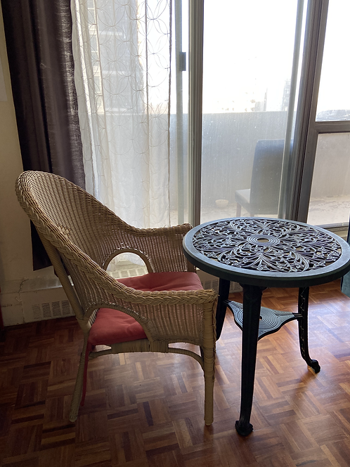 Table and chair (indoor or outdoor)