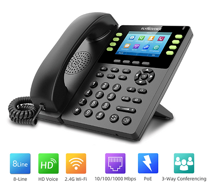 IP Phone VoIP wifi  Flyingvoice FIP14G sem fios