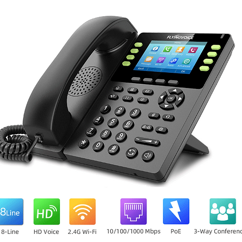 IP Phone VoIP wifi  Flyingvoice FIP14G sem fios