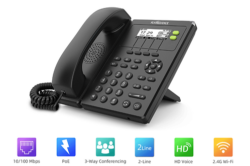IP Phone VoIP wifi  Flyingvoice FIP10 sem fios