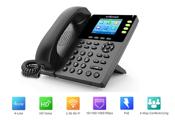 IP Phone VoIP wifi  Flyingvoice FIP13G sem fios
