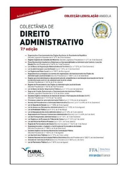 Legislação Colectânea de Direito Administrativo