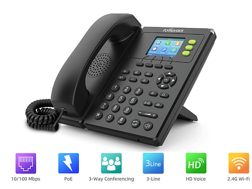 IP Phone VoIP wifi  Flyingvoice FIP11 sem fios