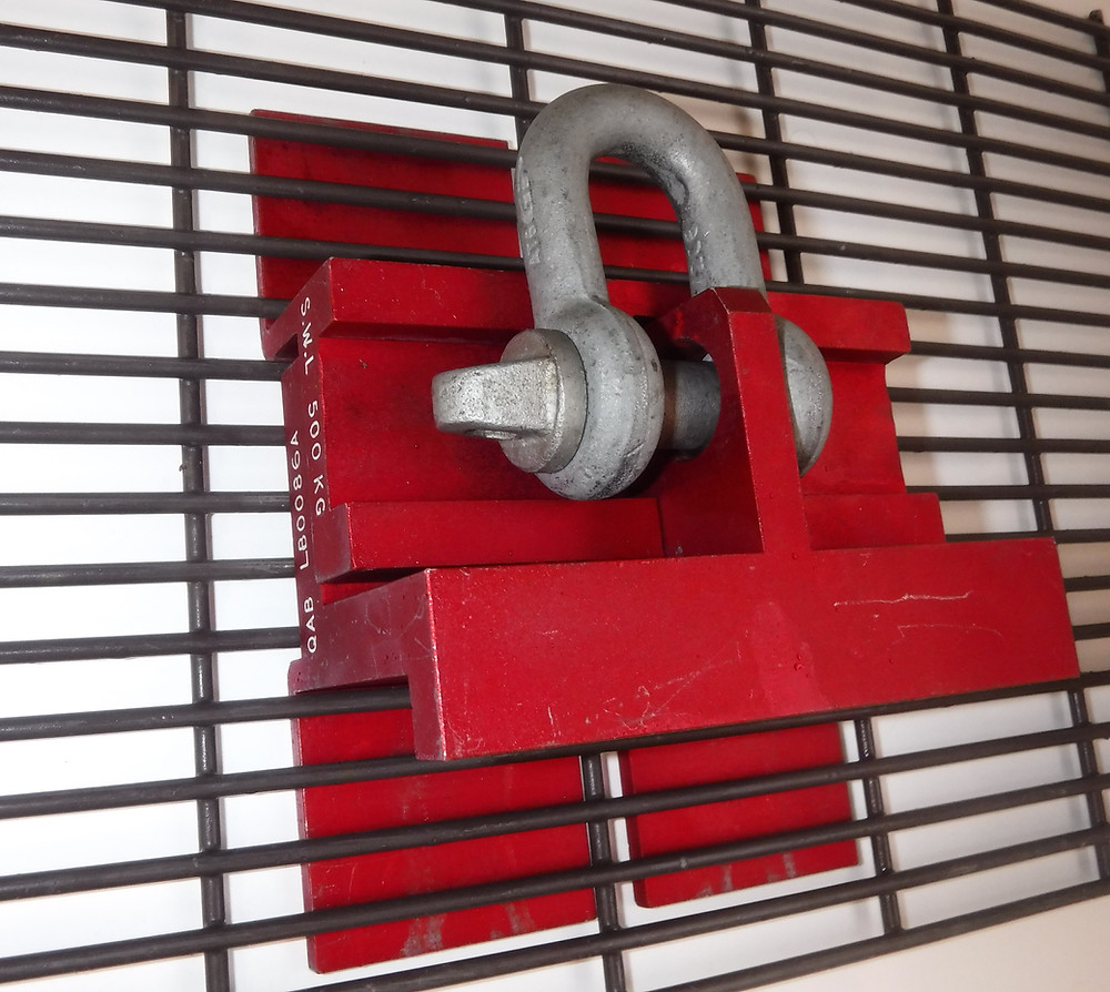 QAB Lifting Bracket used to positing workers or lift 358 mesh fencing into place
