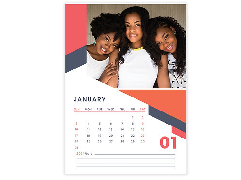 Personalized Wall Calendar 12 Pages