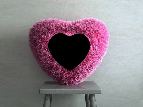 Personalized PINK FUR Pillow