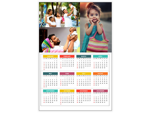 Personalized Wall Calendar Single Page