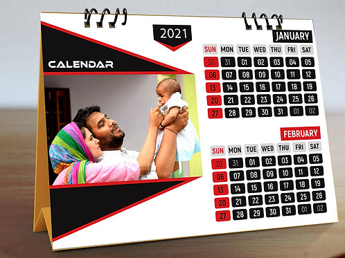 Personalized Desk Calendar 6 Pages