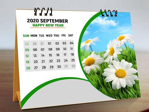 Personalized Desk Calendar 12 Pages