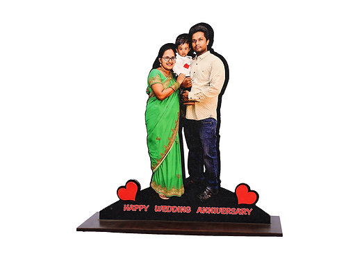 Personalized Gift MDF Cutout Photo Frame Stand