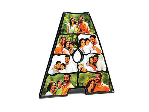 Alphabets Photo Collage Cut Out Frame