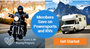 members save  on powersports and rvs