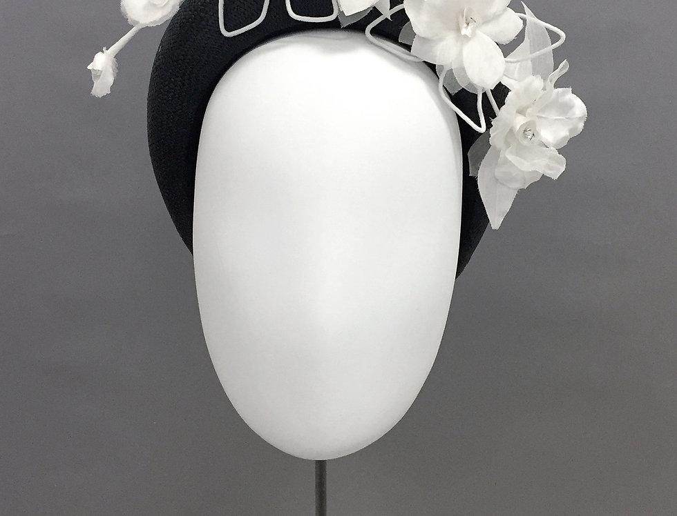 Anais - straw bandeau headband with orchid spray
