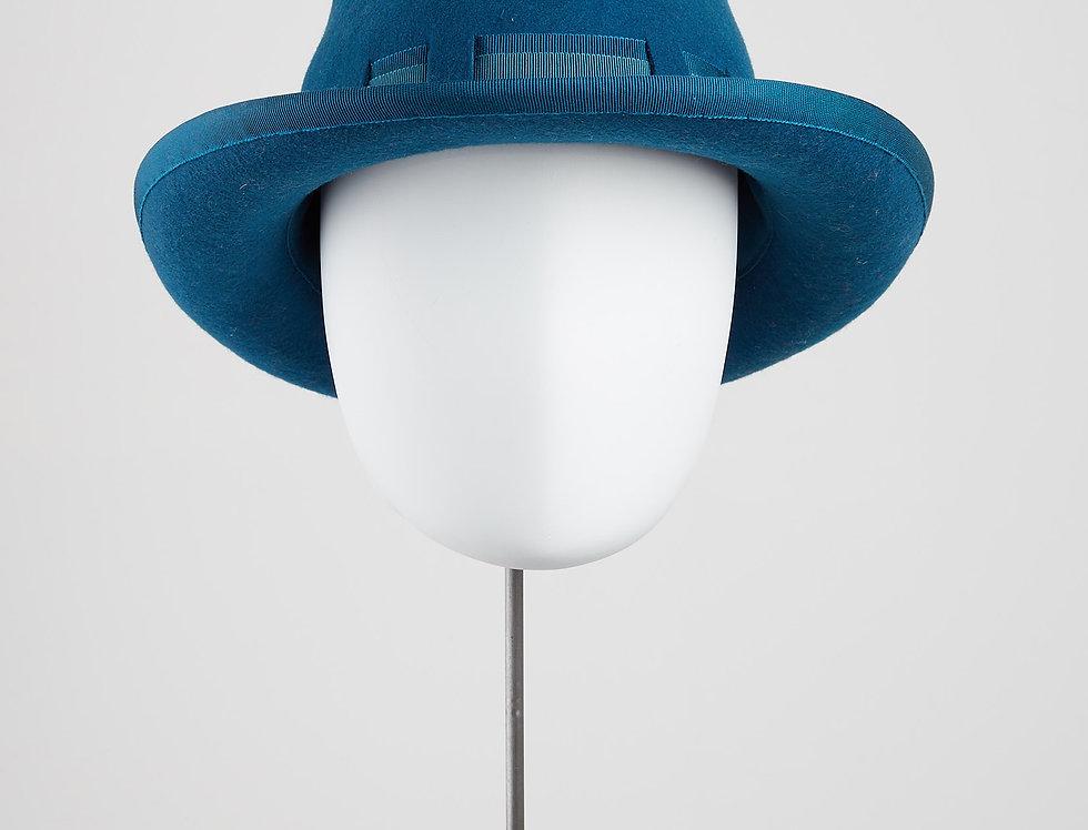 Ribbon weave woolfelt trilby fedora hat - SALE