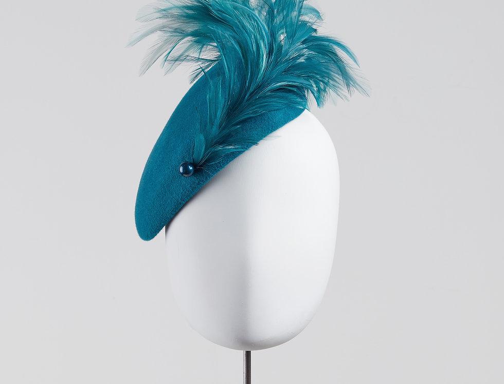 Tori felt percher beret felt hat for winter weddings and events