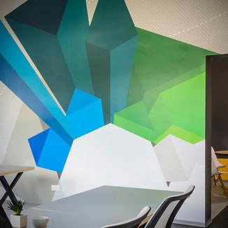 Office interior design . Spheric
