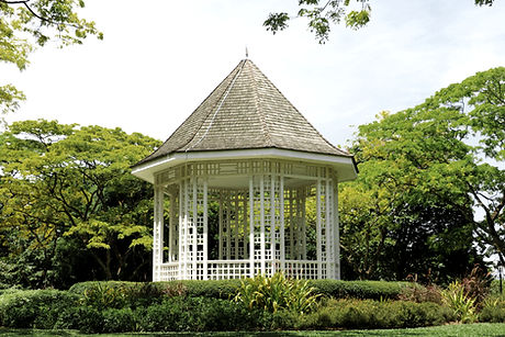Gazebo Surrounded by Trees