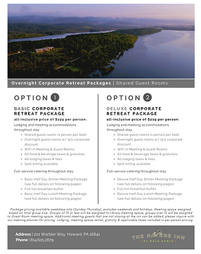 Overnight Corporate Retreat Packages PNG