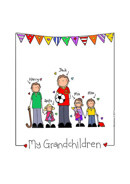 Grandparents Grandchildren Portrait