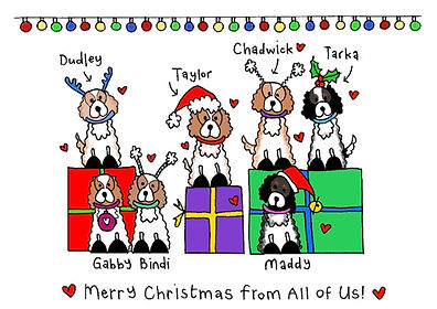 Blackshoe Furry Friends Xmas Cards (Fitting up to 8 characters)  Obviously you can add all your pets to your own Christmas cards.. but what about giving them their own... Sprinkle them in Christmas!  *Photos are useful when designing your pets ;)