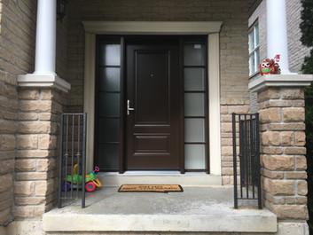 Traditional steel entry door