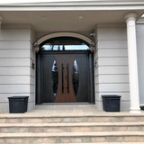 Diplomat 7K double door with arch transo