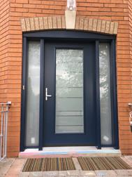 Modern steel entrance door