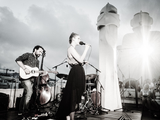 Performing at La Pedrera in Barcelona