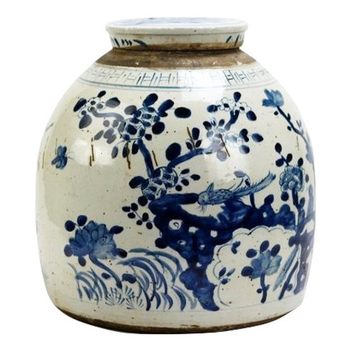 Flat-top Branches Ginger Jar