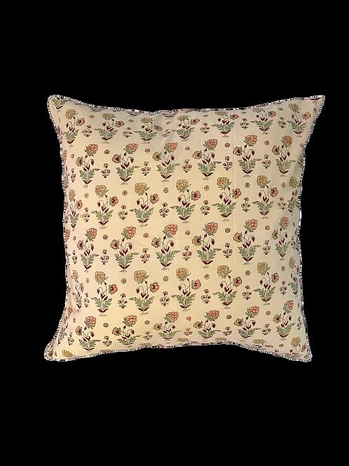 Pink Berry Block Print Pillow
