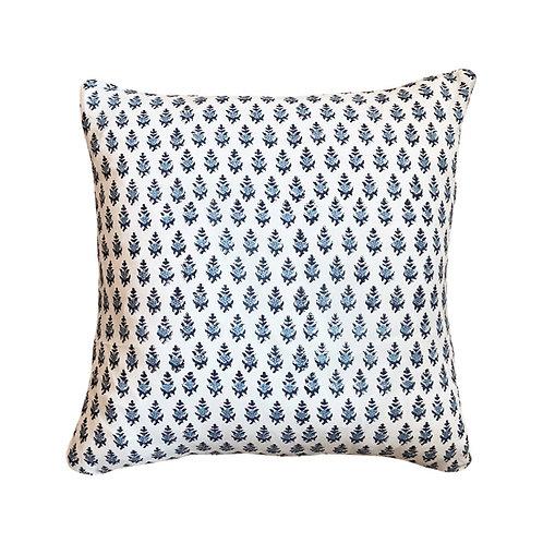 Petite Blue Floral Block Print Pillow
