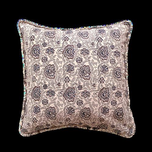 Indigo Vine Block Print Pillow