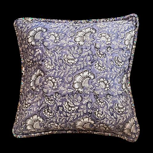 Blue Garden Block Print Pillow