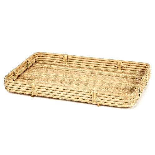 Reeded Bamboo Tray