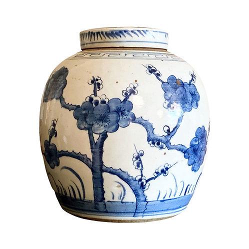 Flat-top Blossom Ginger Jar