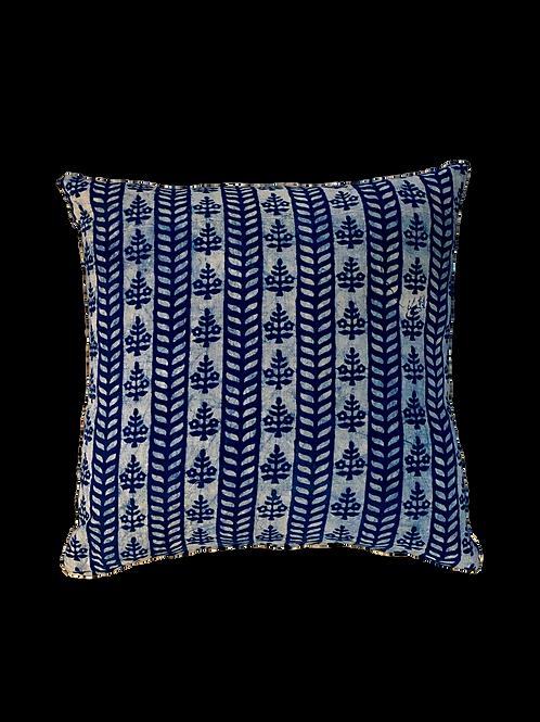 Indigo Stripe Block Print Pillow