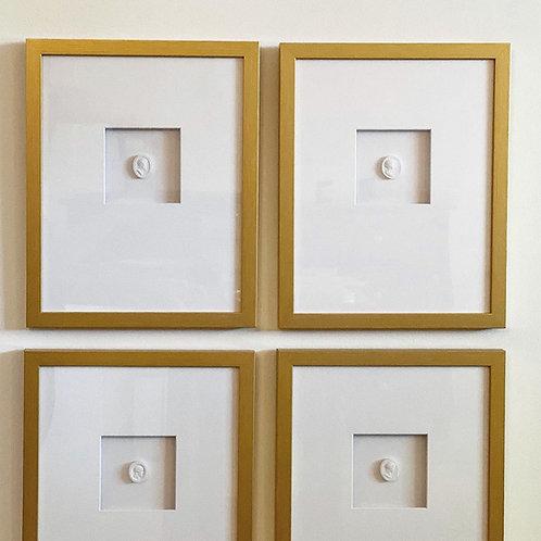 Set of 4 Framed Intaglios
