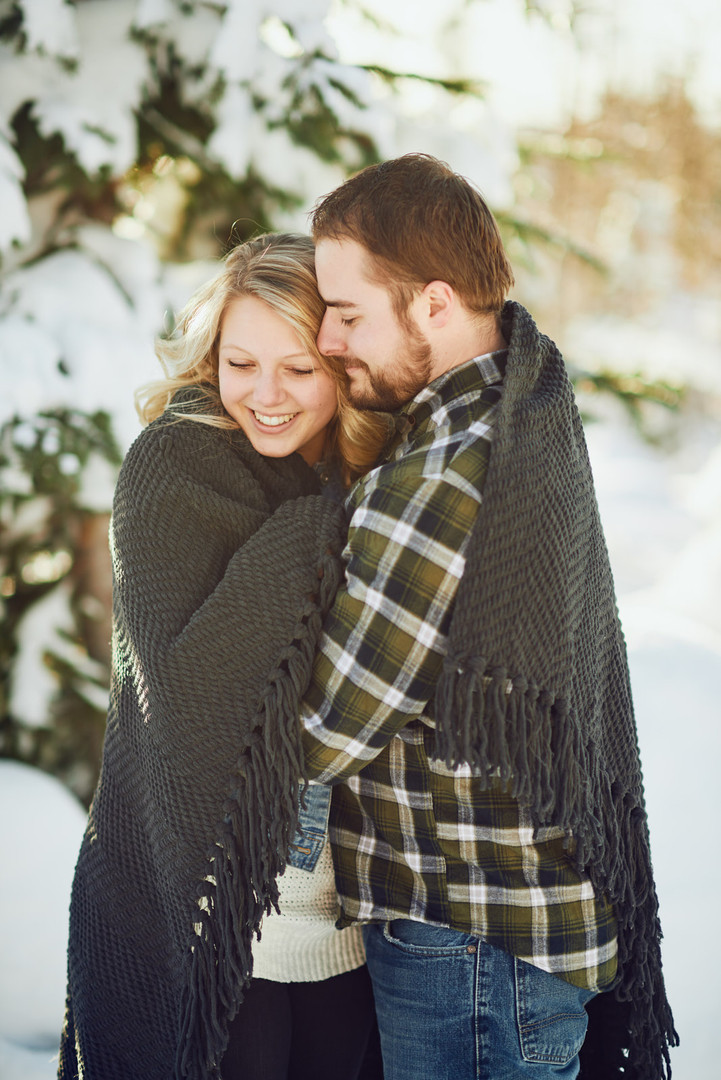 Snowy Engagement Session: Kinzee + Caleb