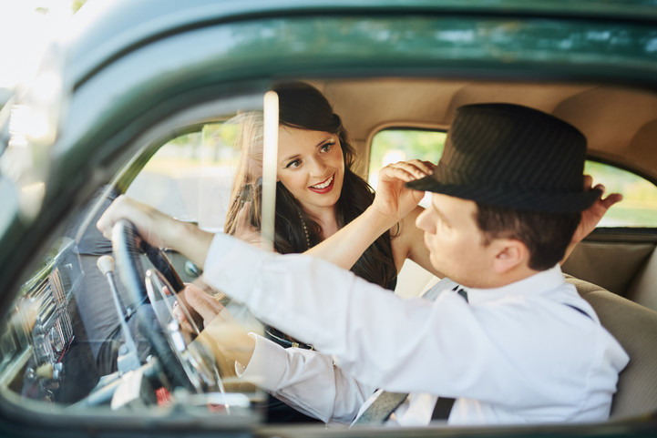 Vintage Car Engagement Session: Tiffany + Jeremy