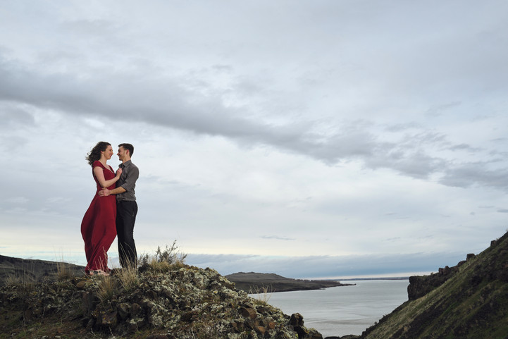 Romantic Cliffside Engagement Session: Shana + Jake, Part 2