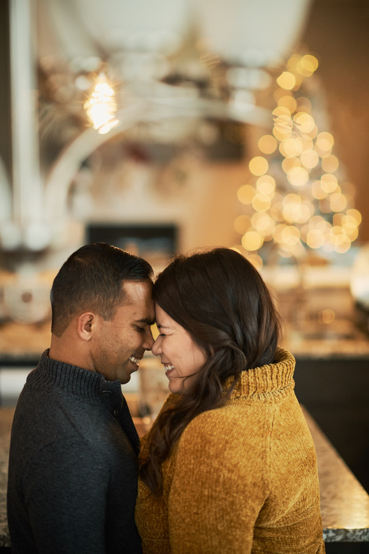 Holiday At-Home Engagement Session: Lupe + Tyler