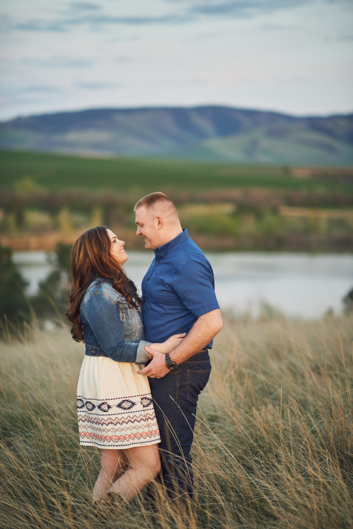 Spring Meadow Engagement Session: Kirstie + Jeff