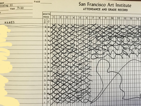 Bruce Conner, SFAI Roll Books, Grade Inflation, Attendance Records & Wasted Time...