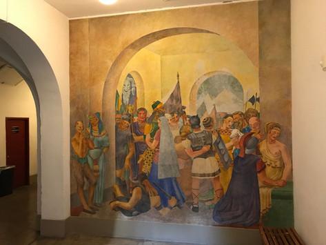 "SFAI ""Lost Fresco"" Suzanne Scheuer, Molly Lambert, Mortimer Fleishhacker, Jr."