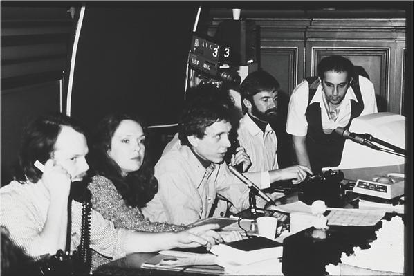 [Left to right] Bill Bartlett, Sharon Grace, Carl Loeffler, Brendan O'Reagan, and Art Klei