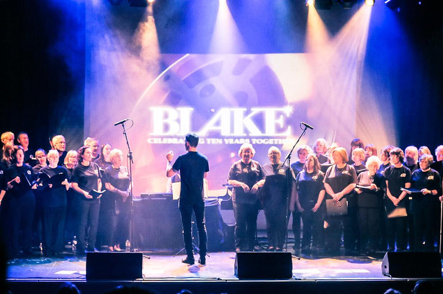 Choir On The Green  performing with Blake at The Elgiva Theatre in Chesham